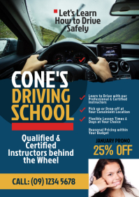 Driving School Flyer Template A4