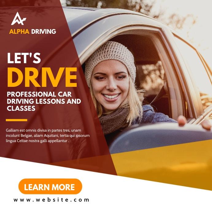 driving school instagram post advertising ban template