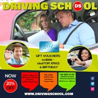 Driving School Instagram Post Instagram-opslag template