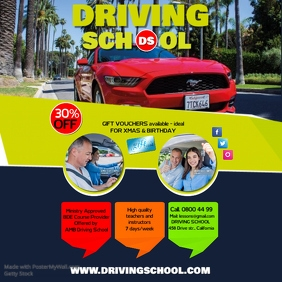 50 customizable design templates for driving school postermywall