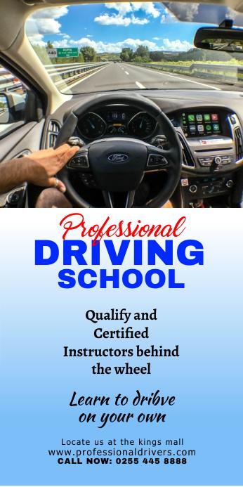 DRIVING SCHOOL22 Banner avvolgibile 3' × 6' template