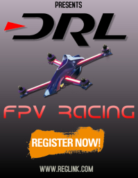 DRL FPV DRONE RACING FLYER TEMPLATE
