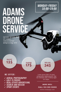 Drone Service Flyer DEsign Template Poster