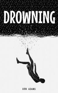 Drowning Book Cover Design Template Copertina di Kindle