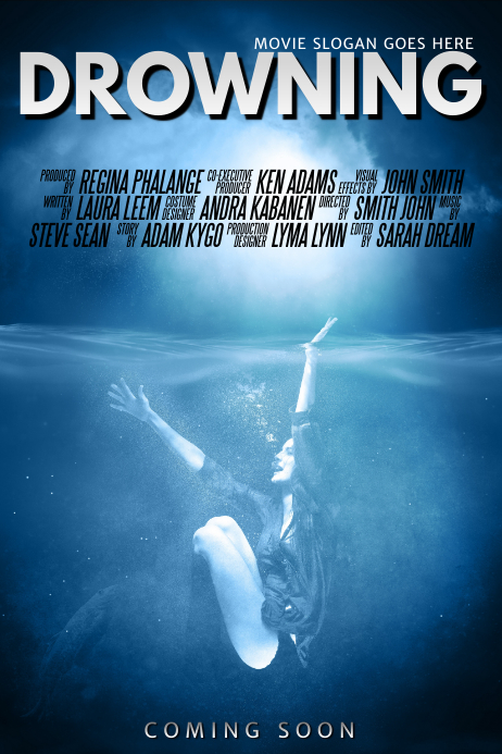 Drowning Movie Poster Template Postermywall