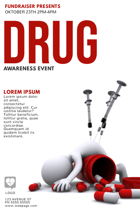 Drug Awareness Flyer Template Postermywall