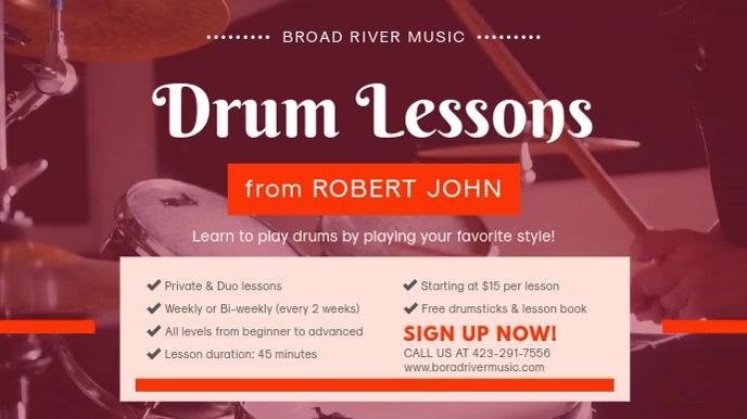 Drum Classes Custom Advertisement Banner
