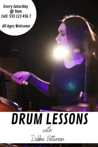 Drum Lessons Poster template