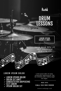 Drum Lessons Flyer Design Template
