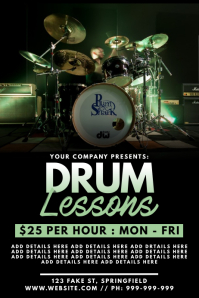 Drum Lessons Poster