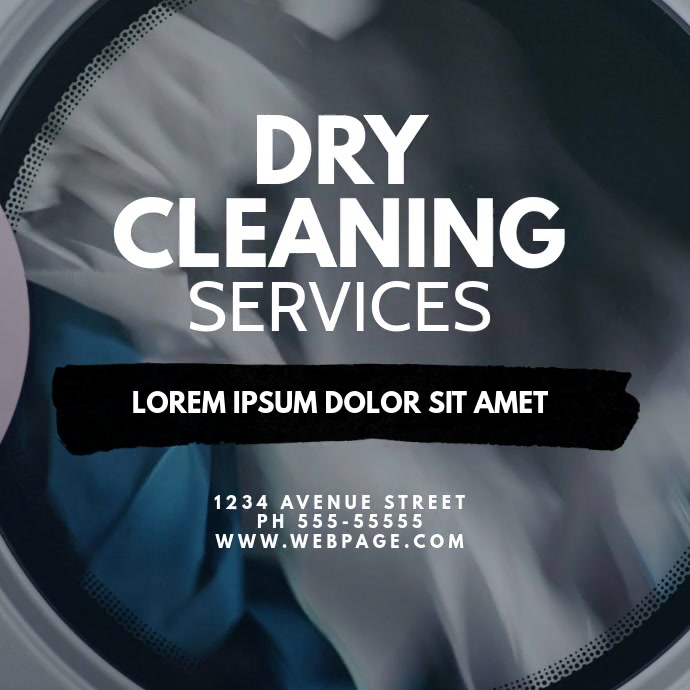 Dry Cleaning Service Video Ad Template