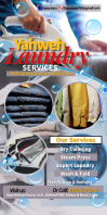 Dry-cleaning services banner template