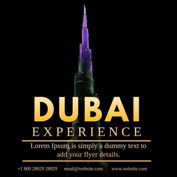 DUBAI EXPERIENCE VIDEO AD สี่เหลี่ยมจัตุรัส (1:1) template