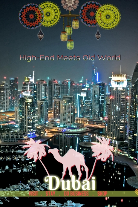 Dubai/Middle East/Saudi Arabia/Events Poster template