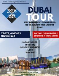 Dubai Tour Packages Flyer Template