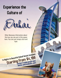 Dubai Tour Travel Flyer Template