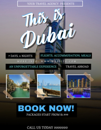 Dubai Tour Travel Package Flyer Template