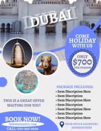 Dubai Travel Agency Flyer Template