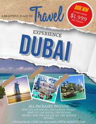 Dubai Travel Flyer Template