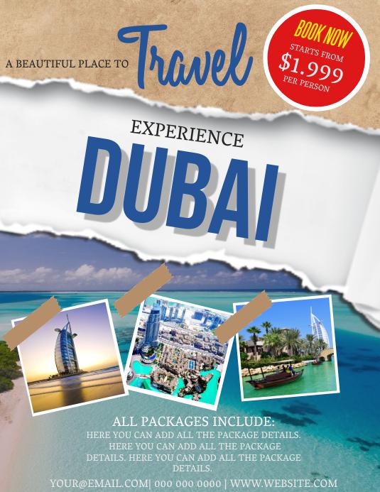 Dubai Travel Flyer Template