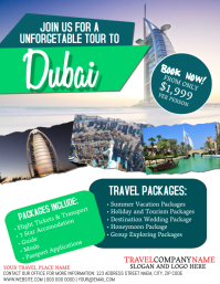 Dubai Travel Tour Flyer Template