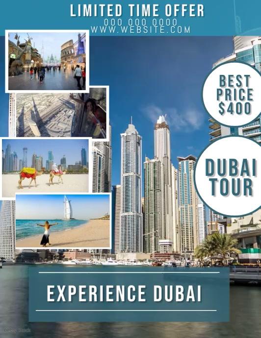 Dubai Travel Video Flyer Template