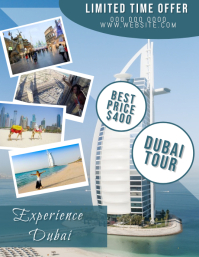 Dubaie Travel Flyer Template