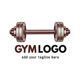 dumbbell icon logo