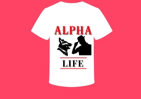Duo2 Alpha Life Tshirt A4 template