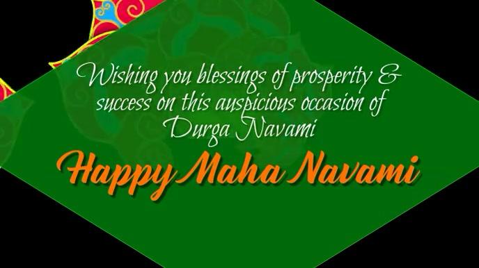 Durga Navami Indian Holiday Hindi Digital Display (16:9) template