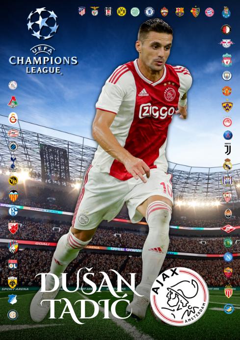 Dusan Tadic Ajax Poster