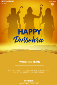 Dussehra event party flyer template