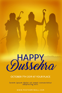 Dussehra Flyer Design Template