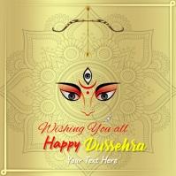 Dussehra greeting Card Instagram-opslag template