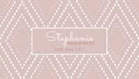 Dusty Rose Pink Geo Abstract Business Card Визитная карточка template
