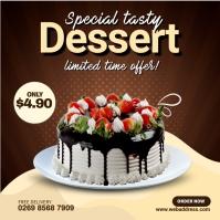 Dutch Chocolate Cake Square (1:1) template