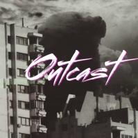 Dystopian Dark Retro 80s Style Song Cover Art template