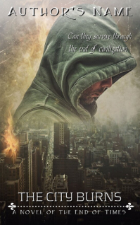 Dystopian Ebook Cover - City Burns Sampul Buku template