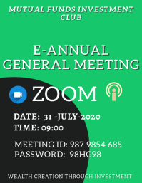 E-Annual General Meeting Poster Template Flyer (US Letter)
