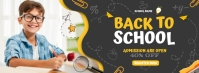 E learning,School admission,online classes Couverture Facebook template