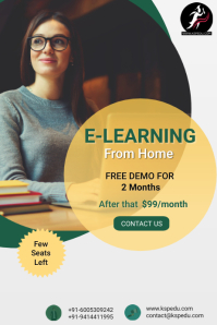 E-Learning | Online Study | Online Classes Poster template