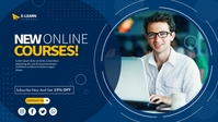 E-learning Courses Video copertina Facebook (16:9) template