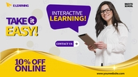 E-learning Cover Ads Facebook-omslagvideo (16:9) template