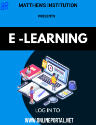 e-learning Flyer (US Letter) template