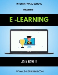 e-learning video Flyer (US Letter) template