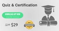 E-Learning E-Quiz E-Certification discount Promo Gedeelde afbeelding op Facebook template