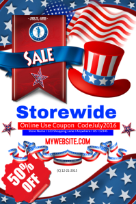 July 4th Storewide Sales Event Template Poster