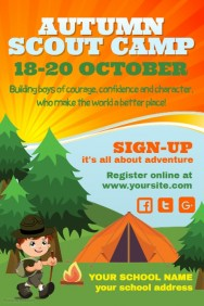 Scouts Camp Poster Template
