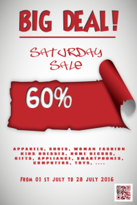 Sale and discount poster - PosterMyWall