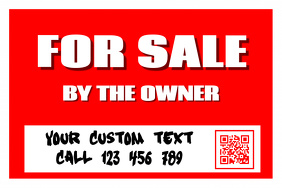 Real estate sign with custom text - PosterMyWall โปสเตอร์ template